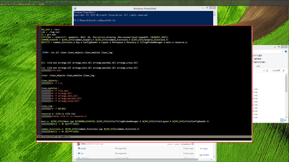 Github rbtnn cpp tile: this is tiling window manager for ms windows.