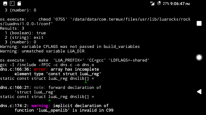 CFLAGS while installing luadns · Issue #2458 · termux/termux