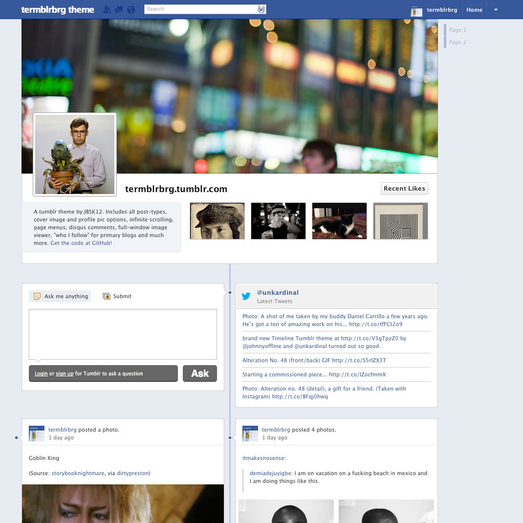 screenshot of the theme.