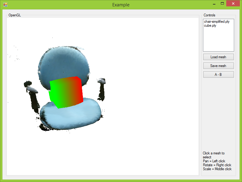 Screenshot of an example