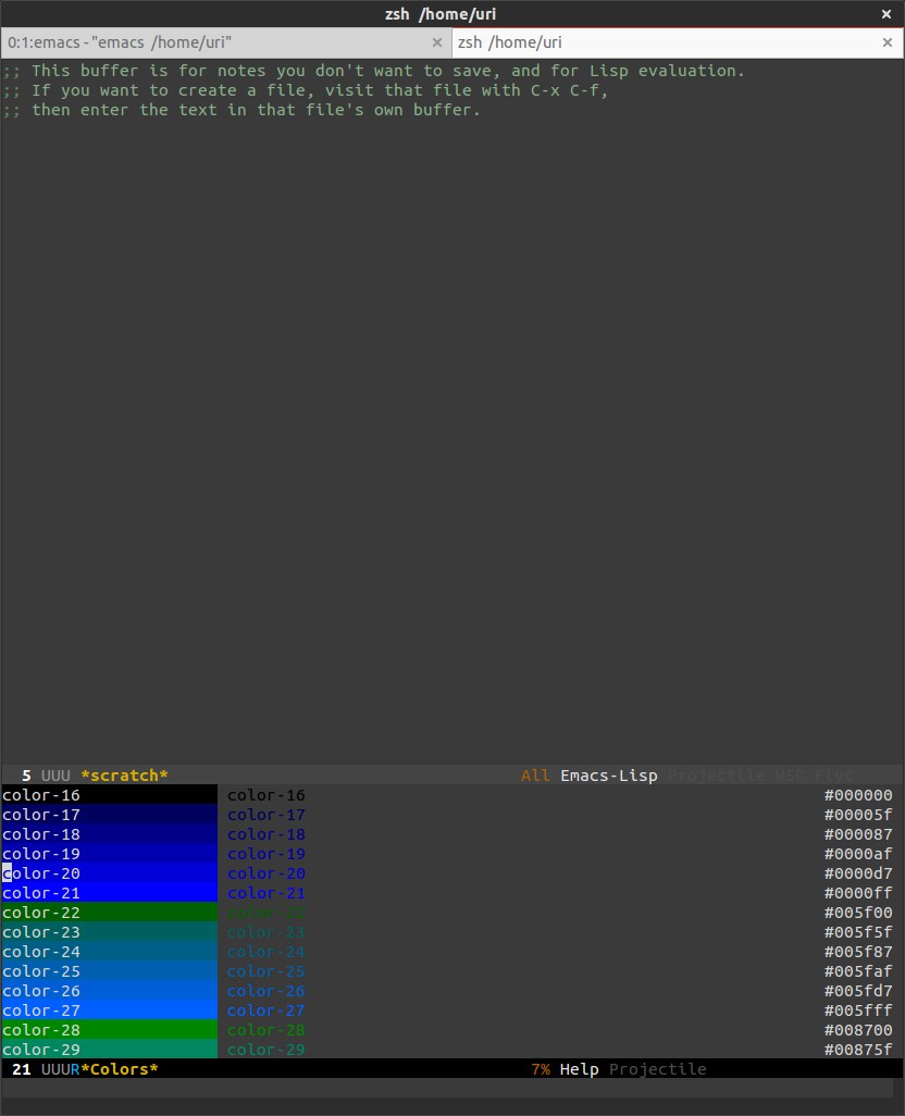 Emacs does not use 256 colors when run in terminal (-nw
