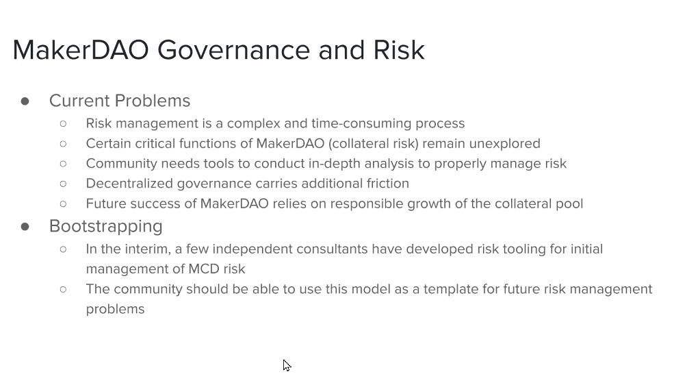 MakerDAO Governance and Risk