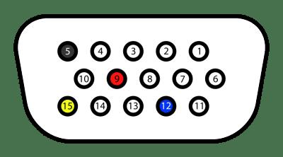 Graphics-I2C pinout