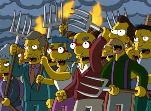 Angry mob image