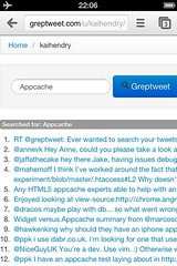 Offline Greptweet on Chrome IOS