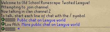 Public chat on a League world
