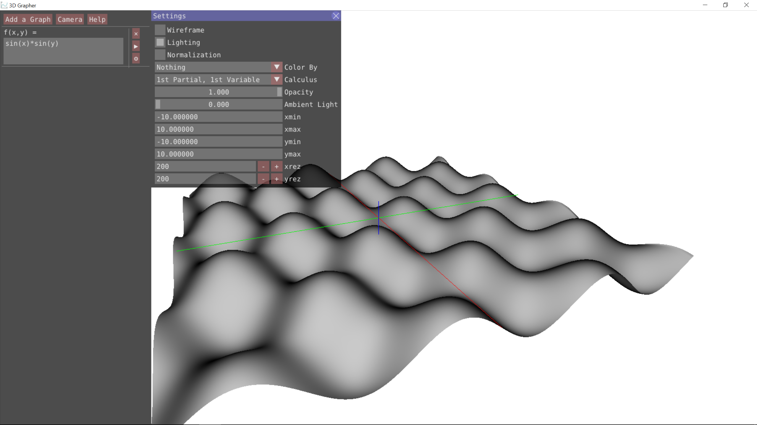 github - thenumbat/3d-grapher: 3d graphing app for calculus 3