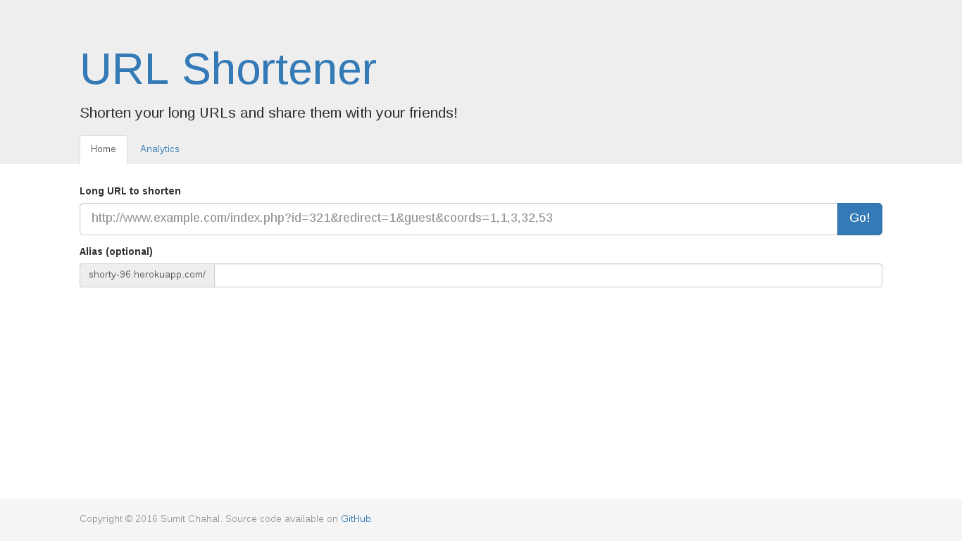 URL Shortener Screenshot