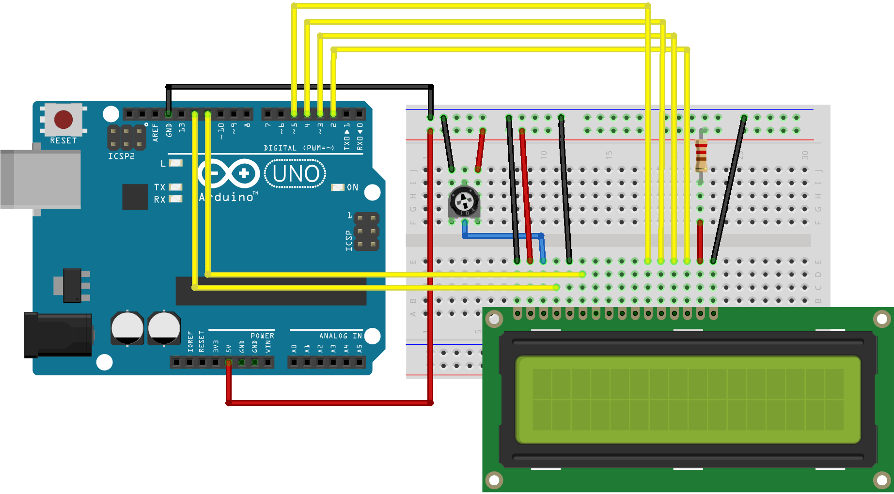 Arduino Connections Jorghe Lcd Vu Meter Wiki Github How To Build 1 Circuit Diagram