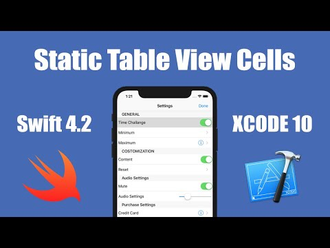 swift Static TableView Cells