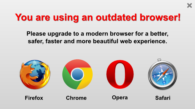 Update your browser!