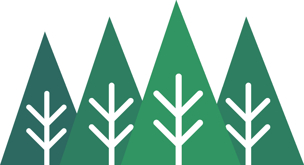 A line of geometric trees