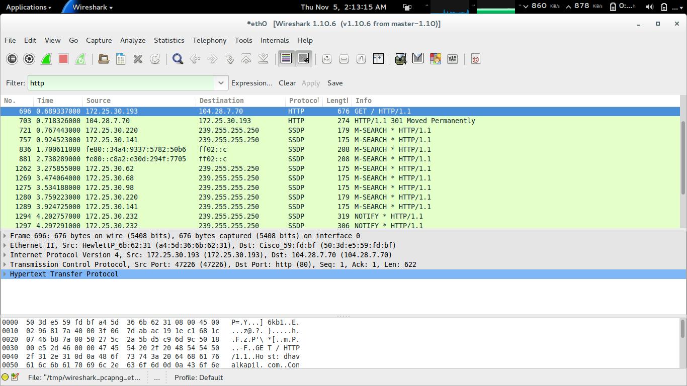 eth0 proxy server side