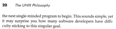 the next single-minded program to begin. This sounds simple, yet it may surprise you how many software developers have difficulty sticking to this singular goal.