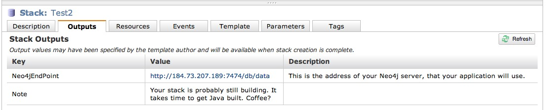 Stack Output