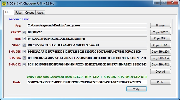 Replace recommended hashing mechanism for Windows [$25 awarded