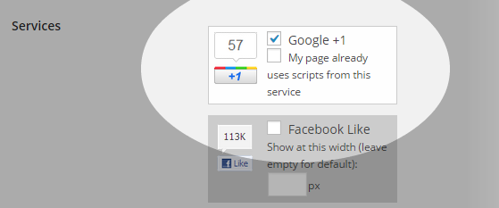 Floating Social - Settings - Services - selected