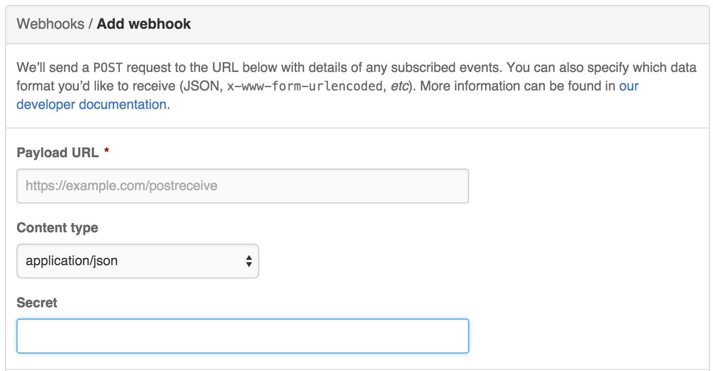 Github add webhook