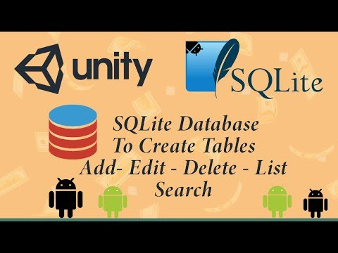 SQLite Unity 3d For ( Android , Windows Phone , Windows , IOS, WINRT )