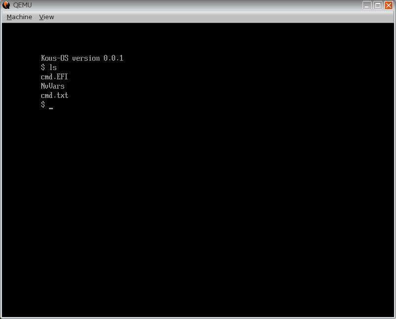 Kous-OS: a CP/M-like OS that runs on UEFI and runs on X86-64