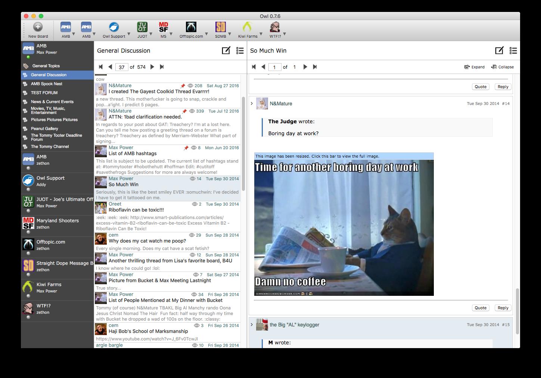 Owl Client Screenshot