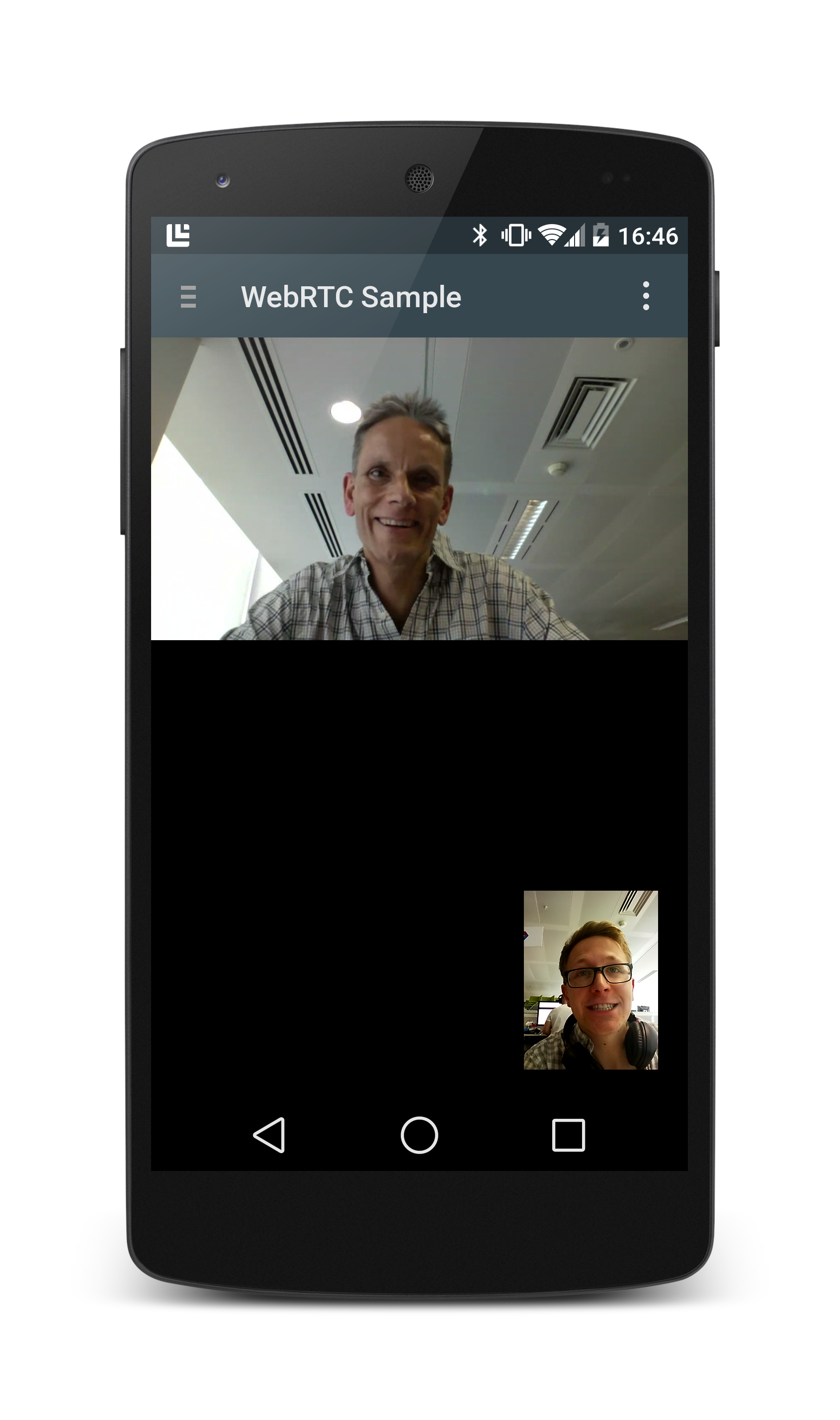 WebRTC on the Chrome WebView Example