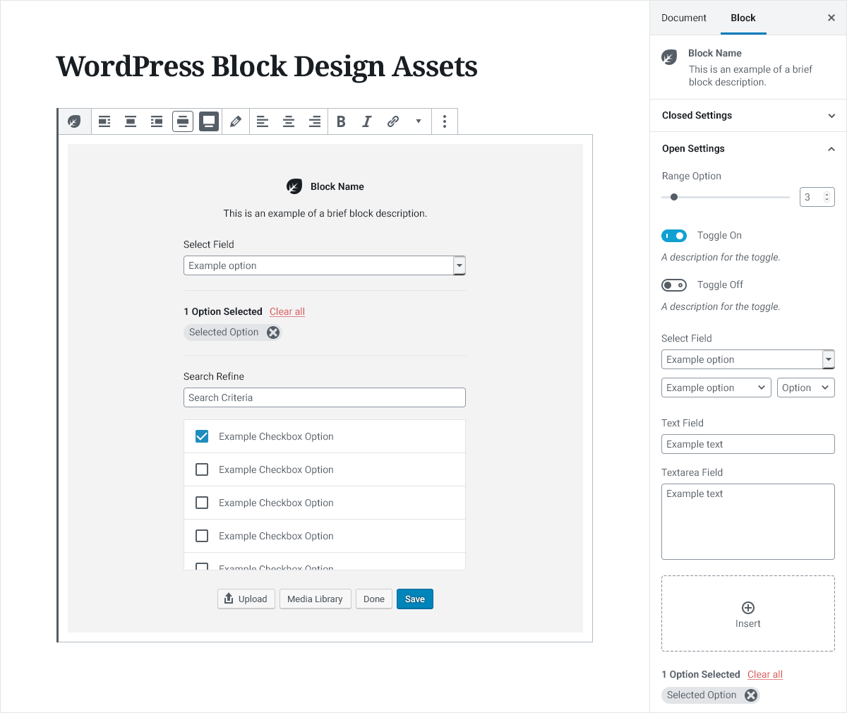 Block Design Assets