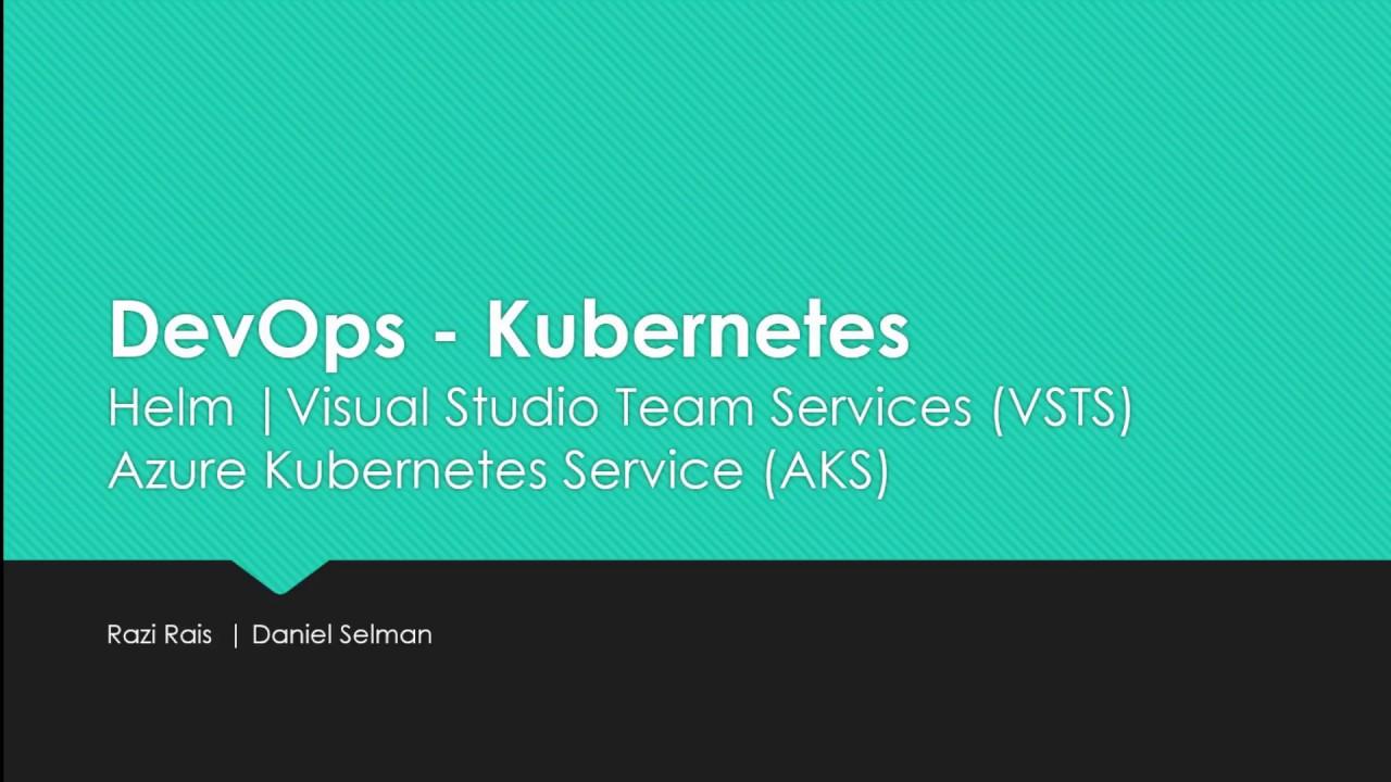 Demo - DevOps - Kubernetes | Helm | Azure Kubernetes Service | Visual Studio Team Services