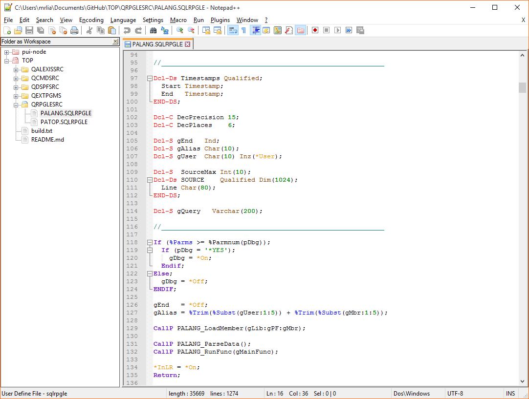 GitHub - worksofliam/Notepad-RPG: RPG Free-Format & CL