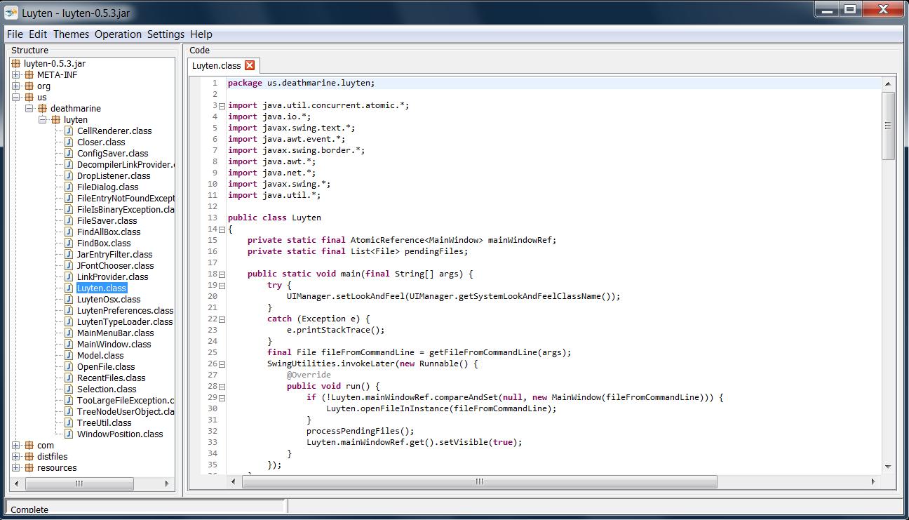 GitHub - deathmarine/Luyten: An Open Source Java Decompiler Gui for