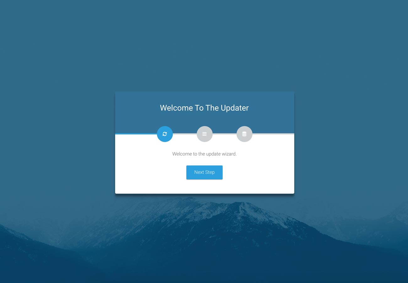Laravel web updater | Step 1