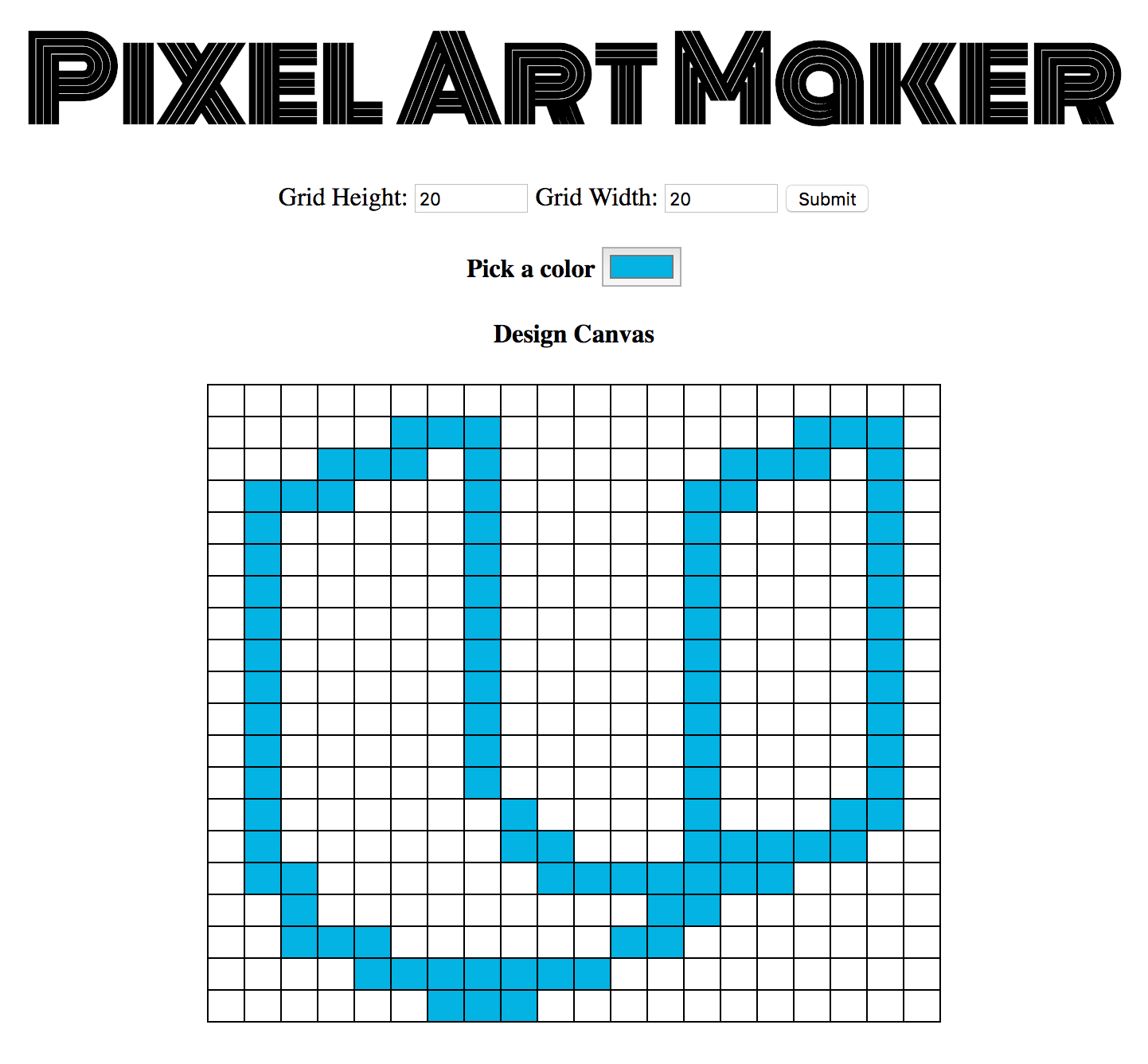 Drawing Lines With Pixels : Github hellofromtonya ufend pixel art maker
