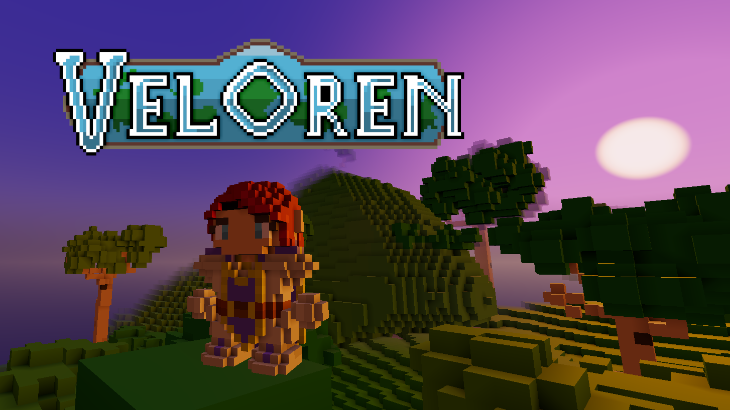 Veloren logo on a screenshot