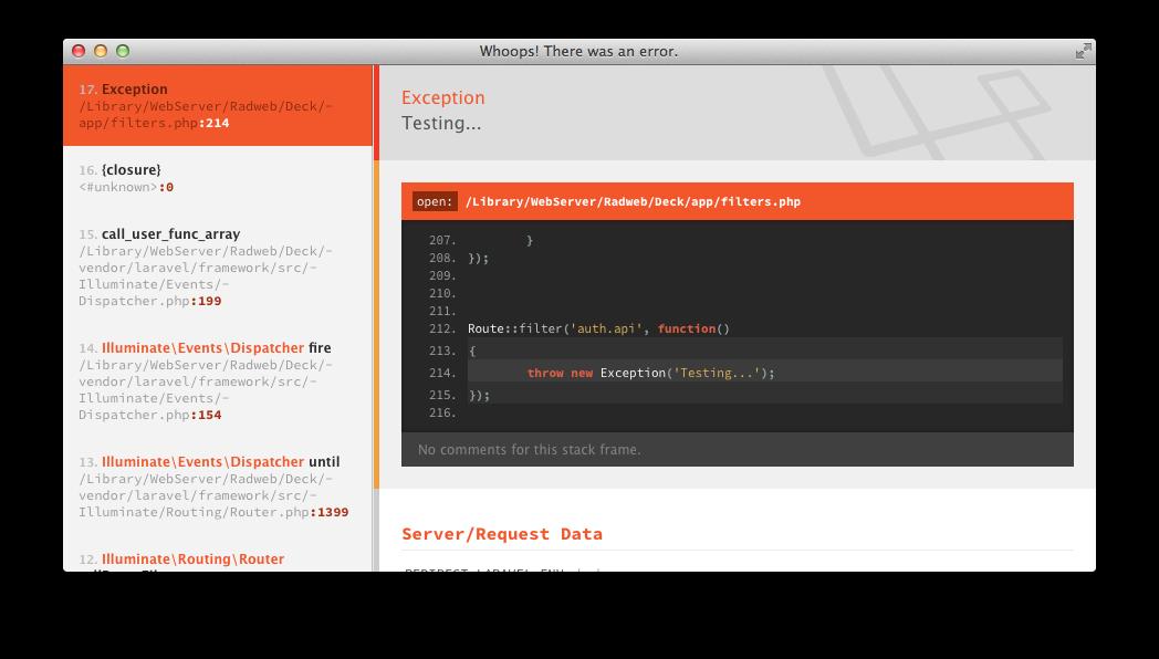 GitHub - Radweb/JSON-Exception-Formatter: A small Laravel