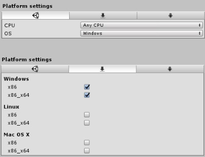 Plugin settings for AnyCPU DLLs