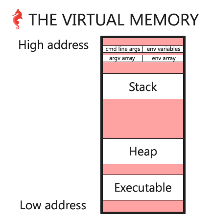 virtual memory with command line arguments and environment variables