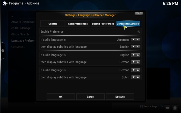 Manifest] Add ability to select language for audio and
