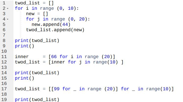 listCode