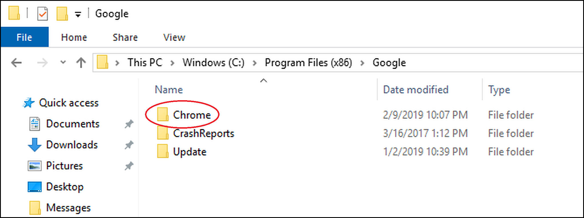 2019-42 Chrome Folder