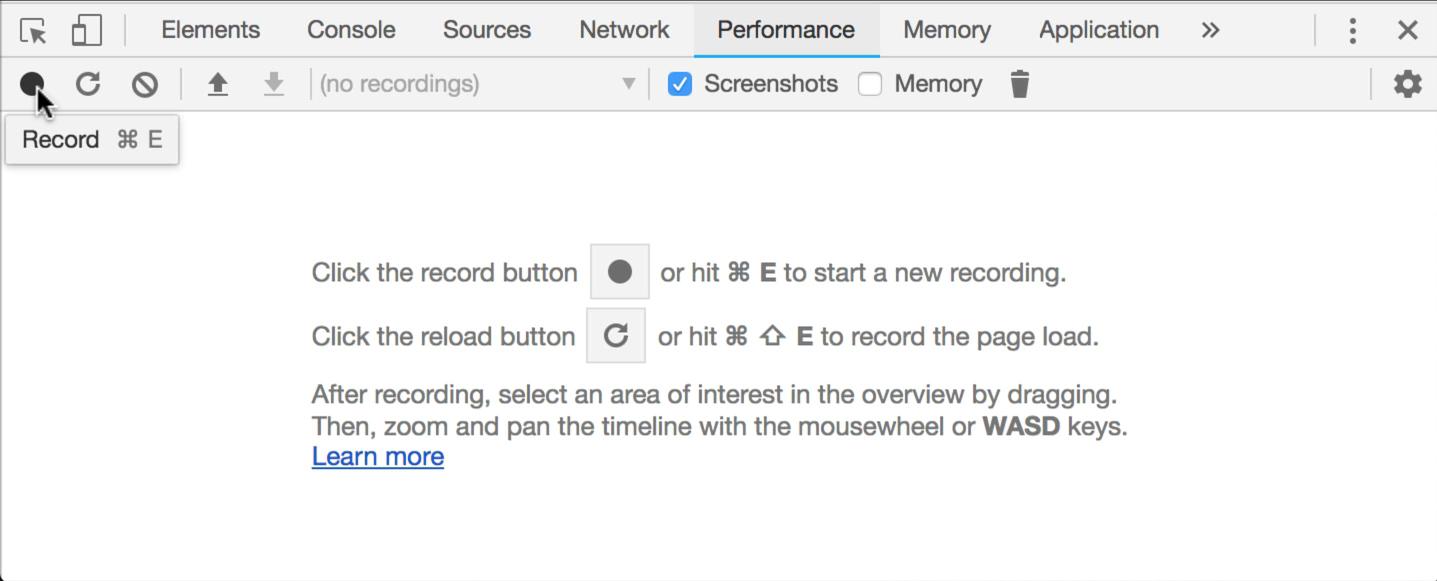 Click record button in Chrome