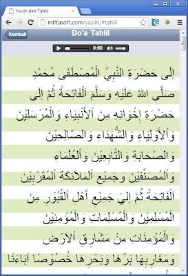 Daftar Doa Pada Aplikasi Yasiin Dan Tahlil Vers 10 Yasiin
