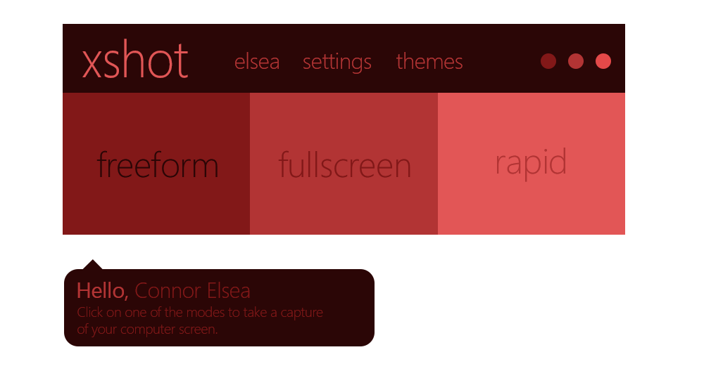 Xshot program screenshot