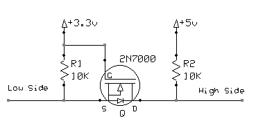 MOSFET logic level conversion