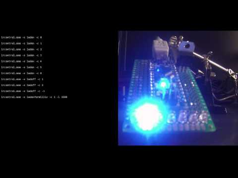 Control Arduino LEDs from the windows command line