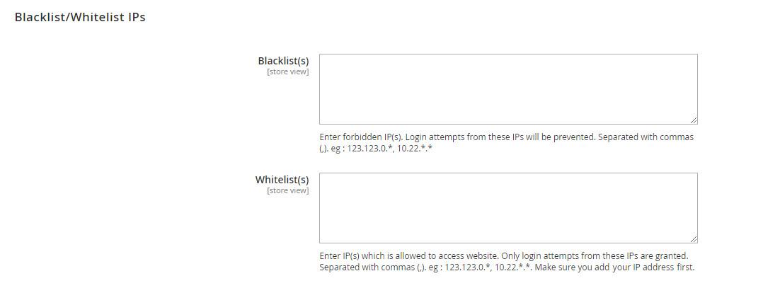 Magento 2 Blacklist and Whitelist IPs