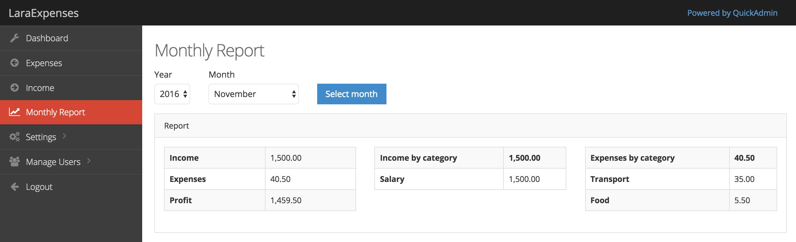 GitHub - LaravelDaily/Laraexpenses-QuickAdminPanel: Laravel 5 3