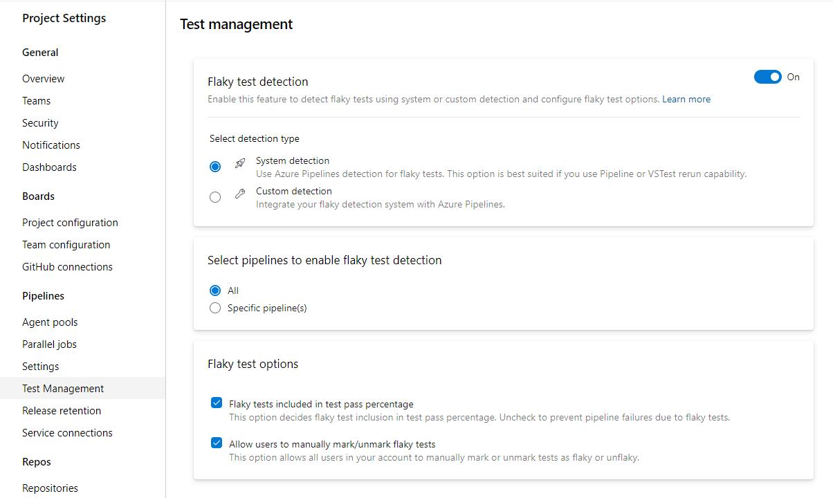 flaky test management