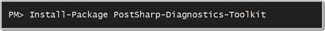 PostSharp Diagnostics Toolkit