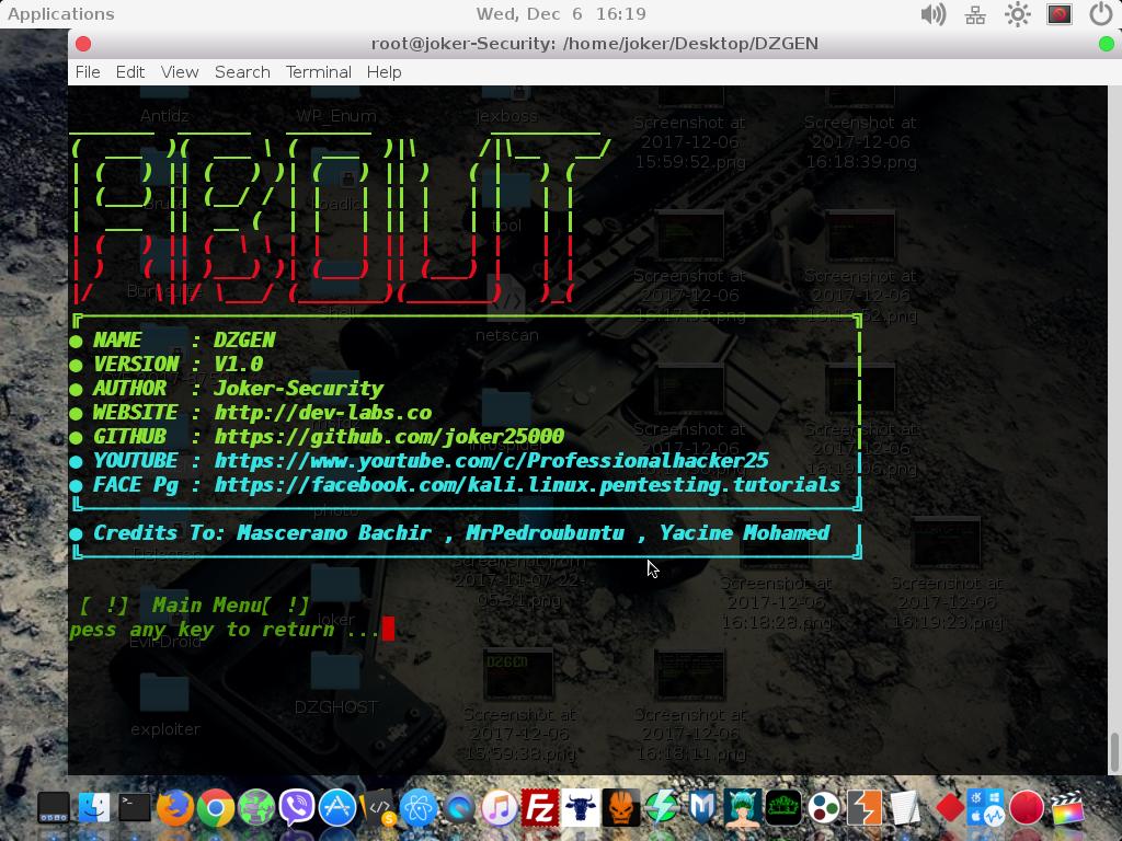 GitHub - joker25000/DZGEN: 🏗 DZGEN - Works with Kali Linux
