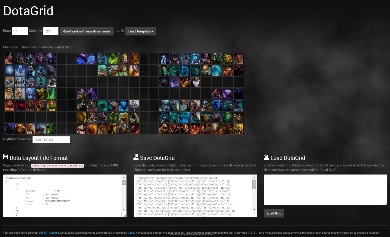 DotaGrid screenshot